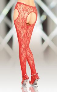 Crotchless Tights 5505 - red